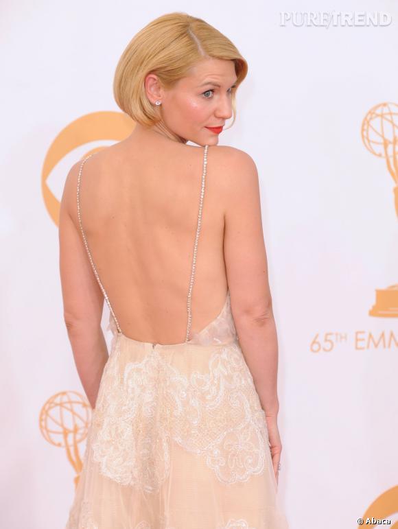 Claire Danes portait une coiffure qui a fait jaser lors des Emmy Award.