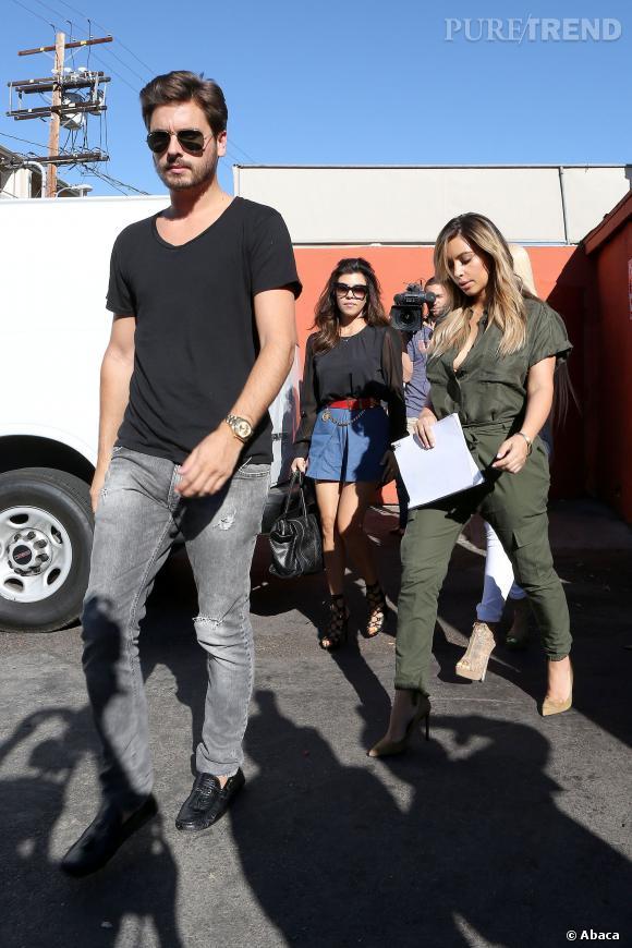 Kim Kardashian en famille mais sans la petite North.