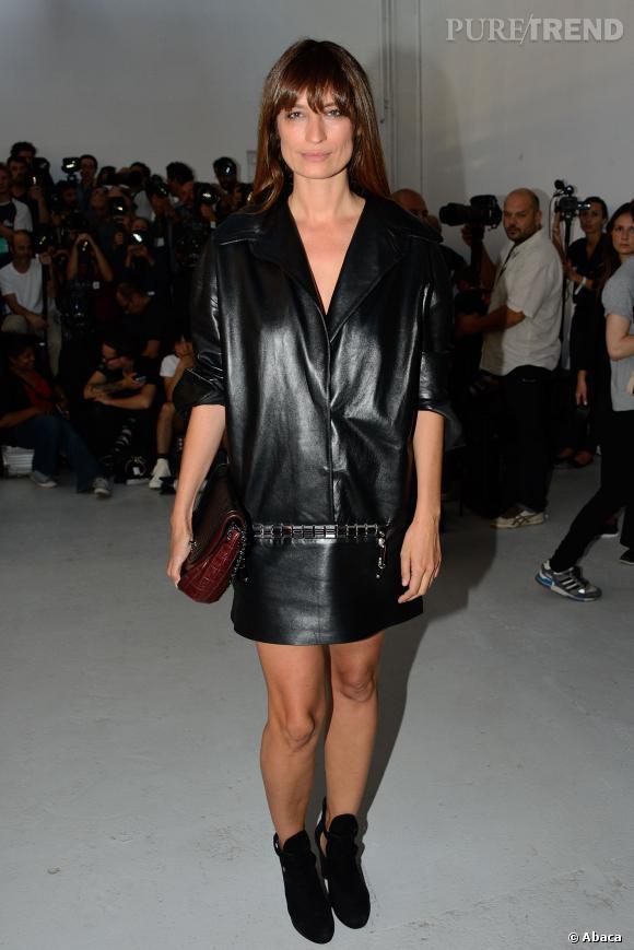 Caroline de Maigret au défilé Printemps-Été 2014 Anthony Vaccarello.