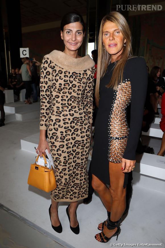 Giovanna Battaglia et Anna Dello Russo au défilé Printemps-Été 2014 Rochas.