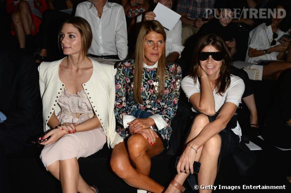 Olivia Palermo, Anna Dello Russo et Carine Roitfeld au défilé Printemps-Été 2014 Nina Ricci.
