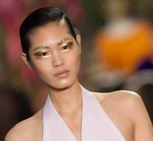 Focus beauté Fashion Week 2013 : regard glitter doré chez Christian Dior