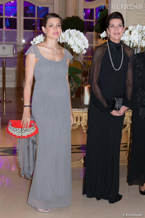 Charlotte Casiraghi au gala de l'AMADE à Monte-Carlo le 4 octobre 2013.