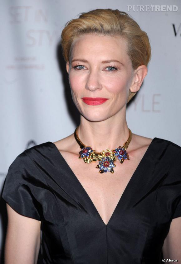 Cate Blanchett préfère prendre soin de sa peau plutôt que de se maquiller.