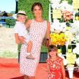 Alessandra Ambrosio et ses deux enfants, Anja Mazur Ambrosio et Noah Mazur Ambrosio, réunis au match de polo Veuve Cliquot.