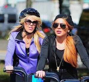Lindsay Lohan a velo : rapprochement mere-fille dans les rues de New York