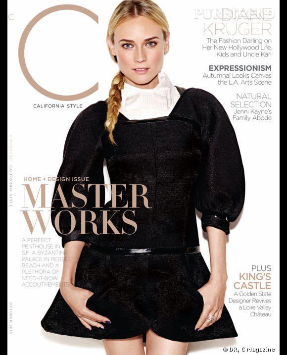 Diane Kruger en couverture de C magazine du mois d'octobre.