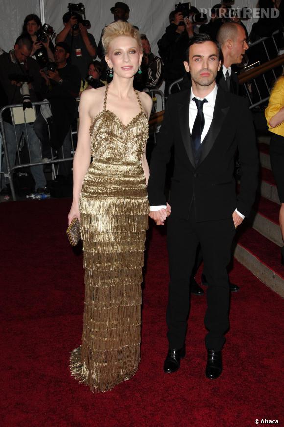Cate Blanchett et Bicolas Ghesquière au gala du Metropolitan Museum Of Art Costume Institute  de 2007.