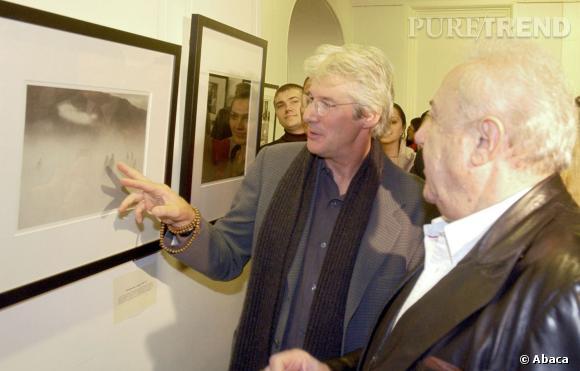 Richard Gere présente son exposition à Moscou en 2011.