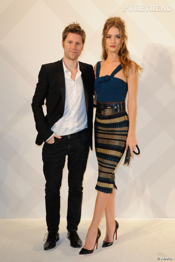 Christopher Bailey et Rosie Huntington-Whiteley.