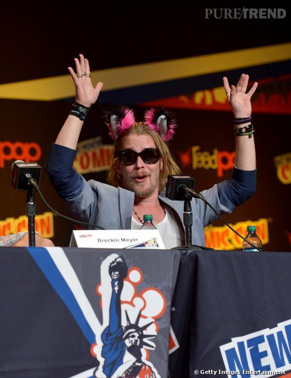 Macaulay Culkin au Comic Con 2013 à New York.