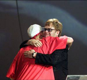 Eminem, le rappeur provoc' a chanté avec Elton John.