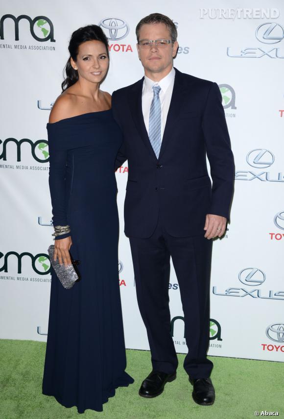 Matt Damon et sa femme à la soirée Environmental Media Awards.