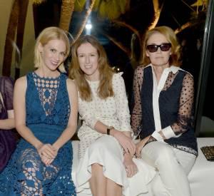 January Jones, Claire Waight Keller et Lisa Love à la soirée Chloé du 29 octobre 2013 à Los Angeles.