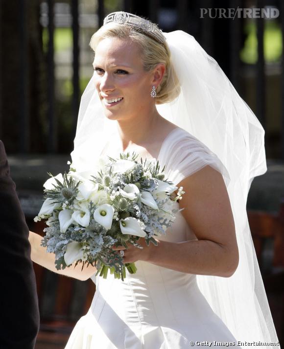 Zara Phillips lors de son mariage avec Mike Tindall.