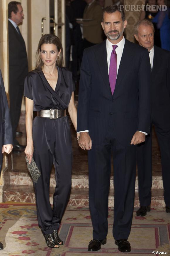 Letizia d'Espagne et son mari, le prince Felipe affichaient une belle complicité.