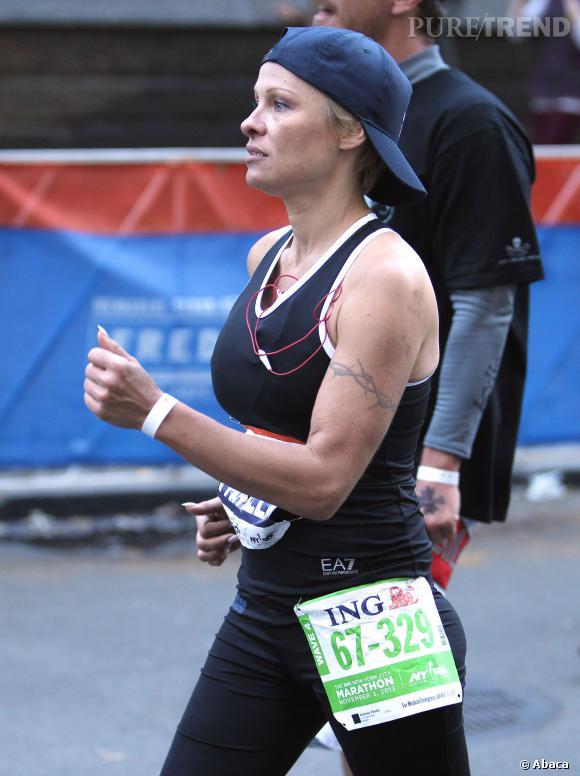 Pamela Anderson a terminé le marathon, juste pour donner tort à Ellen DeGeneres.