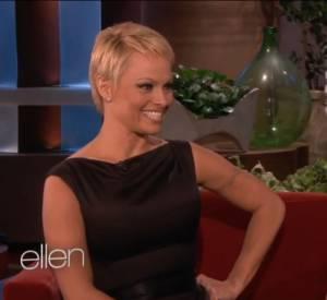 Pamela Anderson, invitée sur le plateau d'Ellen DeGeneres.