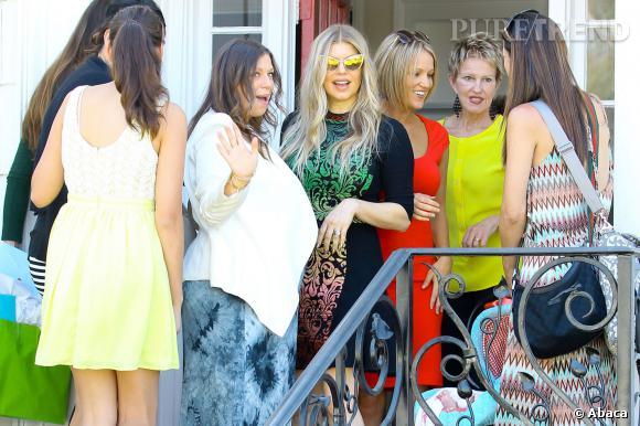 Fergie à la baby shower de sa soeur Dana.