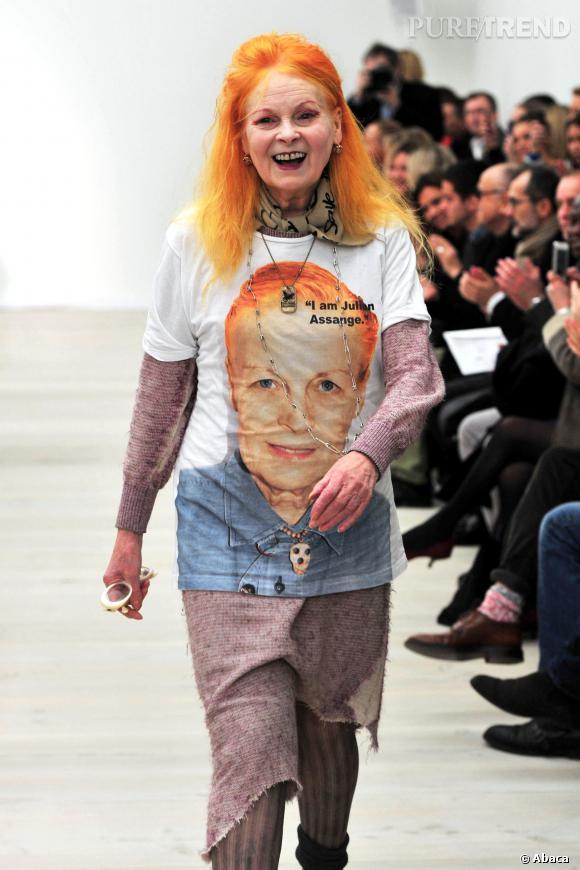 Vivienne Westwood n'hésite pas à afficher trés clairement ses positions.