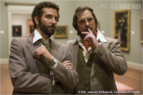 "Christian Bale et son brushing de maquereau dans ""American Hustle""."