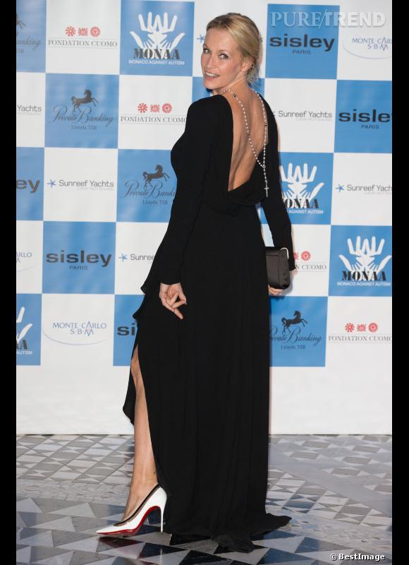 Estelle Lefébure, très sexy pour le dîner de gala annuel de charité MONAA (Monaco Against Autism).