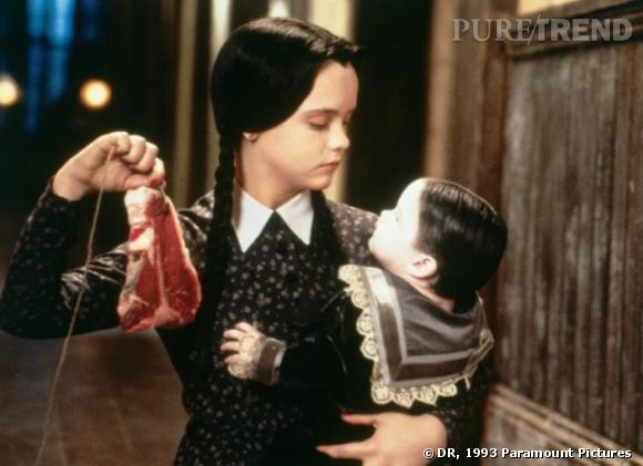 """Christina Ricci dans """"Les Valeurs de le Famille Adams"""", en 1993. Elle a alors 13 ans."""