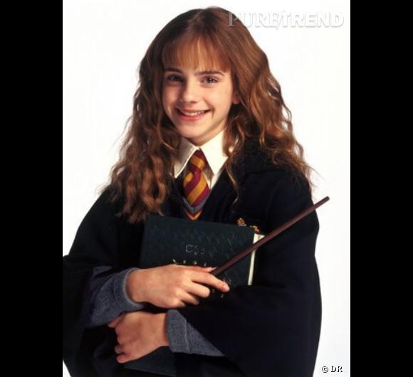 """Emma Watson à 11 ans dans """"Harry Potter à l'école des sorciers""""."""