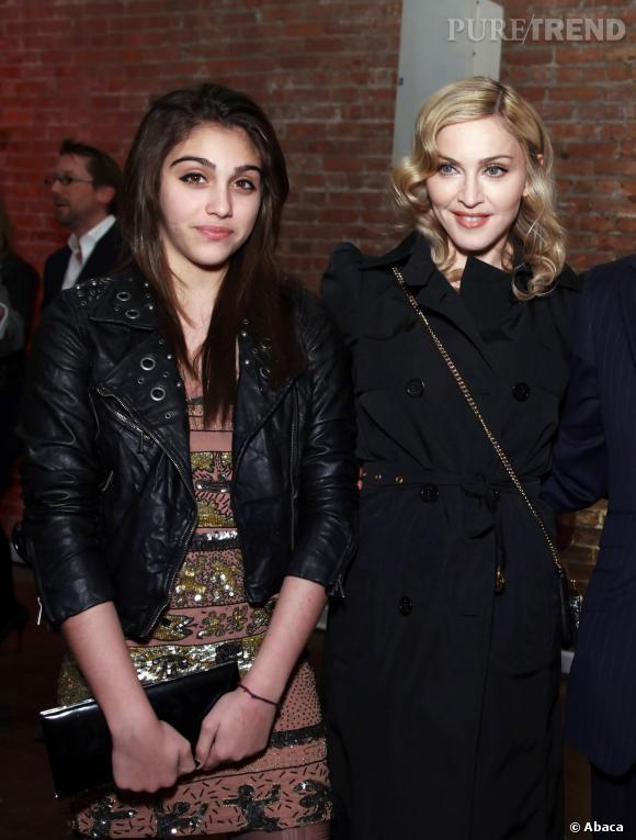 Madonna et sa fille Lourdes âgée de 17 ans.