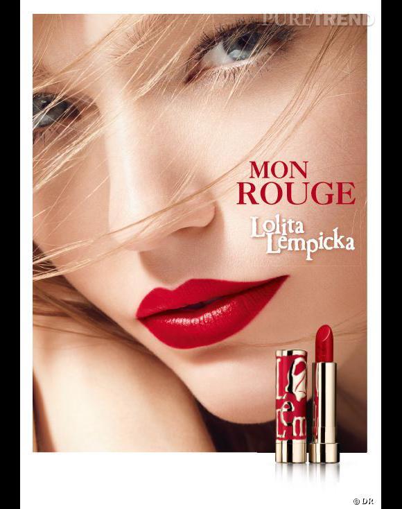 Sasha Pivovarova, sublime égérie de tout nouveaux rouges à lèvres Lolita Lempicka.