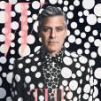 """George Clooney fait la couverture du numéro de décembre de """" W """" Magazine."""