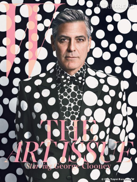 """George Clooney fait la couverture du numéro de décembre de """"W"""" Magazine."""