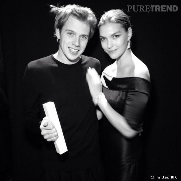 "J.W. Anderson, ""New Establishment Award"", et le top Ariozona Muse aux  British Fashion Awards 2013."