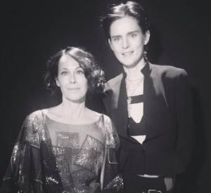 "Lady Amanda Harlech, ""Isabella Blow Award for Fashion Creator"", et Stella Tennant aux British Fashion Awards 2013."
