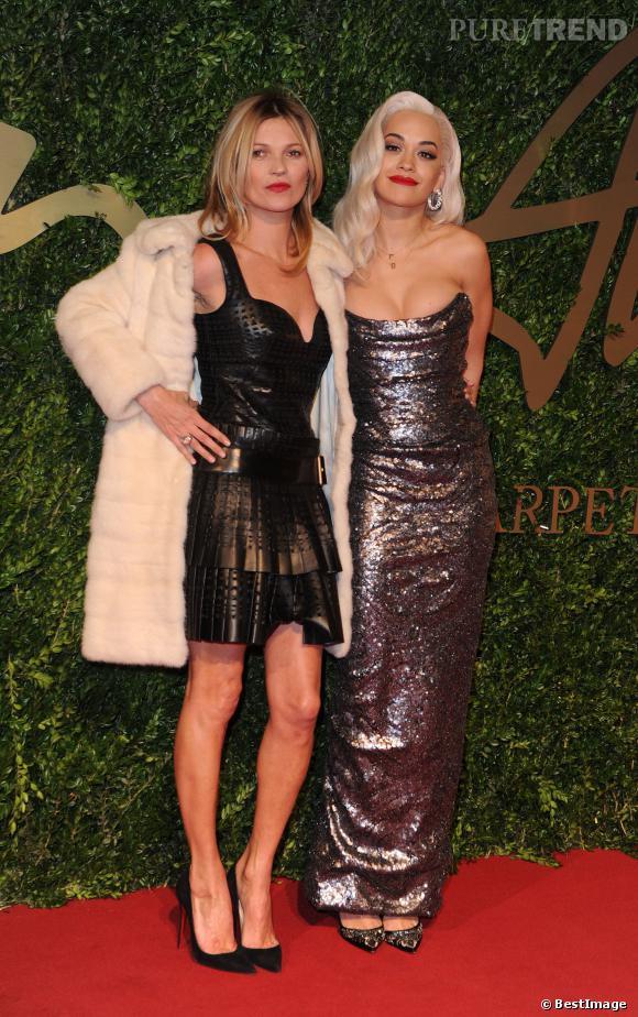 Kate Moss et Rita Ora aux British Fashion Awards 2013.