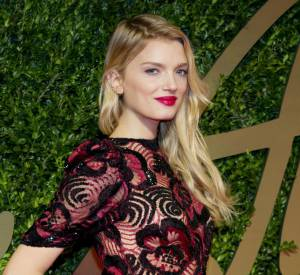 Lily Donaldson aux British Fashion Awards 2013.