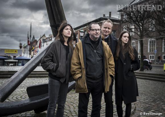 "Charlotte Gainsbourg, Lars Von Trier, Stellan Skarsgard et Stacy Martin au photocall de ""Nymphomaniac"" à Copenhague."