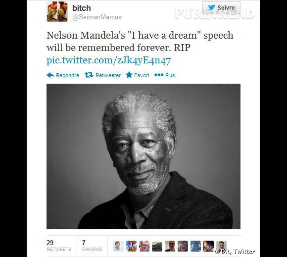 """Le RIP qui a tout raté : Morgan Freeman et le """"I have a dream"""" de Martin Luther King..."""