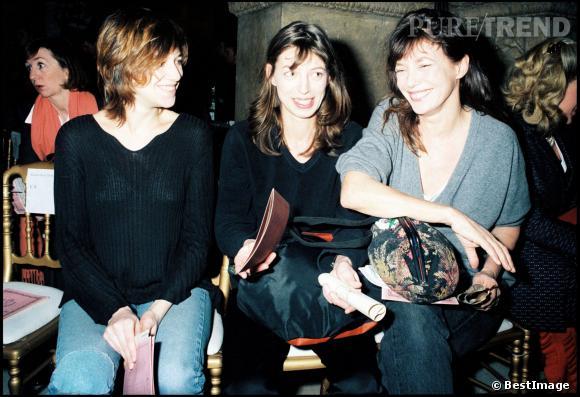 Kate Barry en 1997, avec Charlotte Gainsbourg et Jane Birkin.