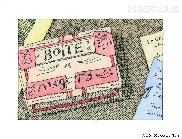 """Boîte à mégots - """"Quelques collectionneurs"""" de Pierre Le-Tan"""