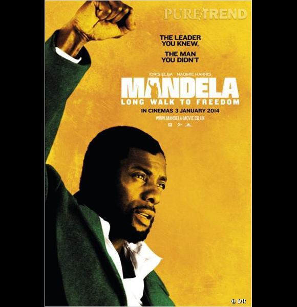 "Idris Elba incarne Nelson Mandela dans le film biopic ""Mandela : Long Walk to Freedom""."