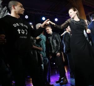 Valérie Trierweiler et Brahim Zaibat enflamment le dancefloor du Palais de l'Elysée.