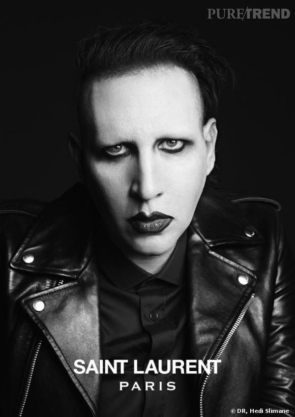 Marilyn Manson, visage de Saint Laurent Paris.