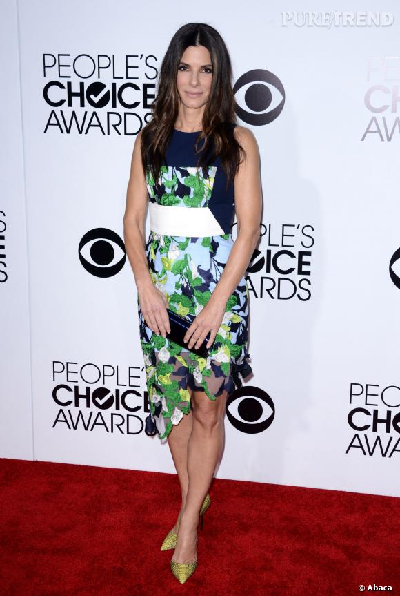 Sandra Bullock aux People's Choice Awards 2014. L'actrice a remporté 3 prix !