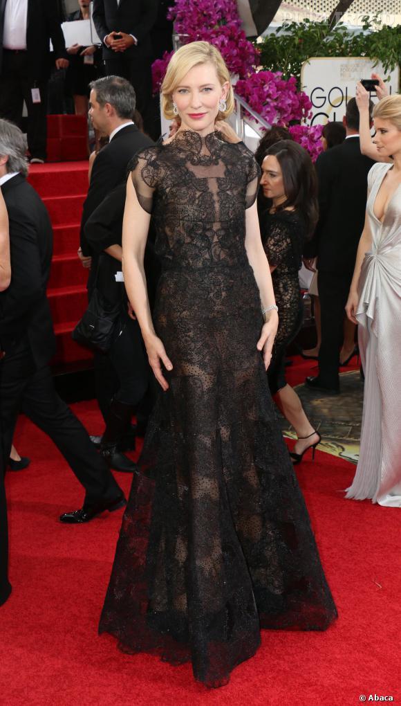 """Cate Blanchett sacrée Meilleure actrice dans un drame aux Golden Globes 2014 pour """"Blue Jasmine""""."""