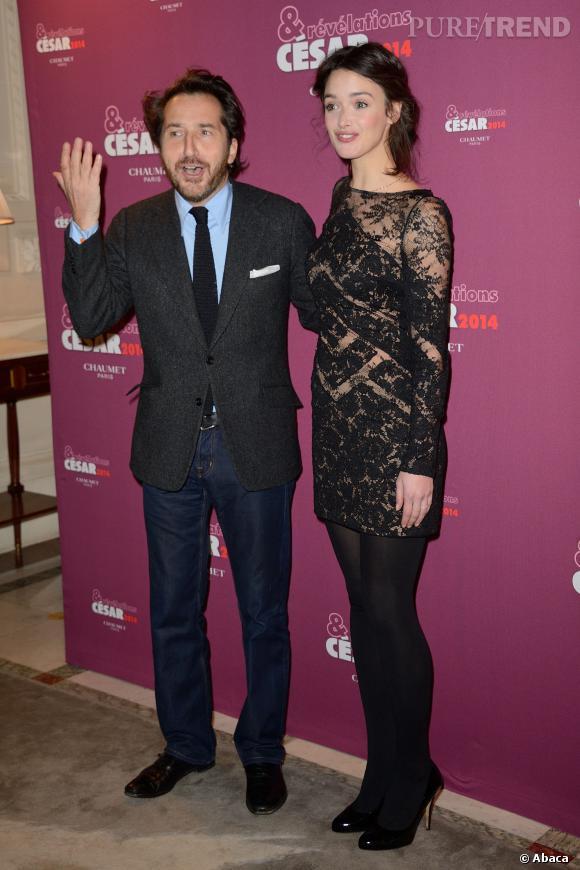 Edouard Baer et Charlotte Le Bon au dîner des Révélations César 2014.