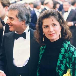 Véronique Genest avec Jean-Claude Brialy et festival de Cannes en 1985.