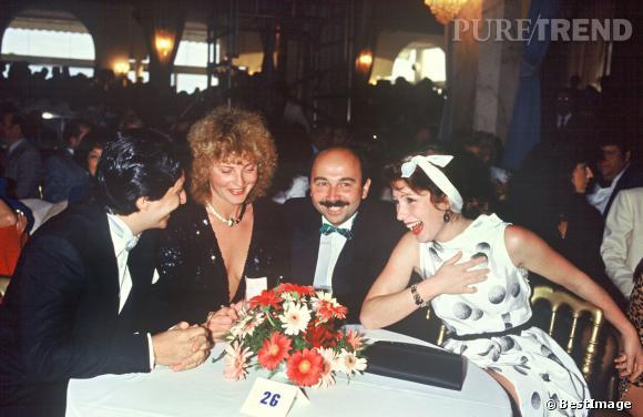 Eclat de rire pour celle qui n'était pas encore Julie Lescaut, à Cannes en 1984.