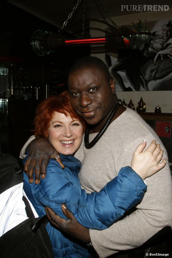 Véronique Genest, star de Julie Lescaut, avec Mous Diouf en 2009.