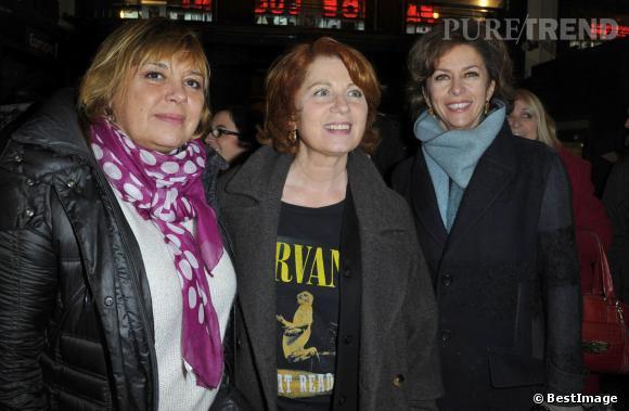 Véronique Genest avec Michele Bernier et Corinne Touzet à la 200ème de la pièce Inconnu à cet adresse, en février 2013.